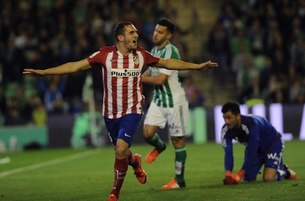 Koke celebrates his goal against Real Betis