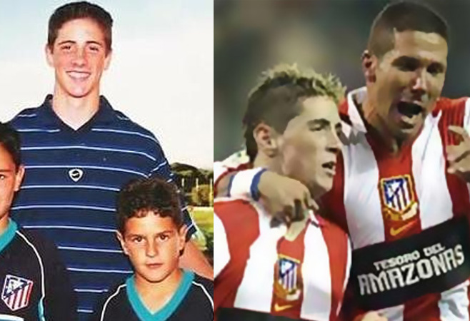 Torres with Koke when he was in the youth side, and Torres with Simeone
