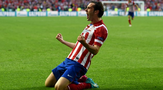 Godín scores against Real Madrid in Champions League final