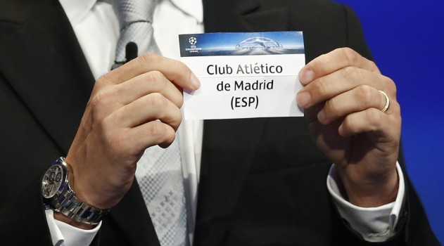 Atlético were drawn with Benfica in Group C