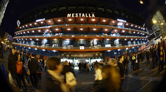 The Mestalla is the setting for Atlético