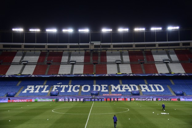 It's a Champions League night at the Vicente Calderón