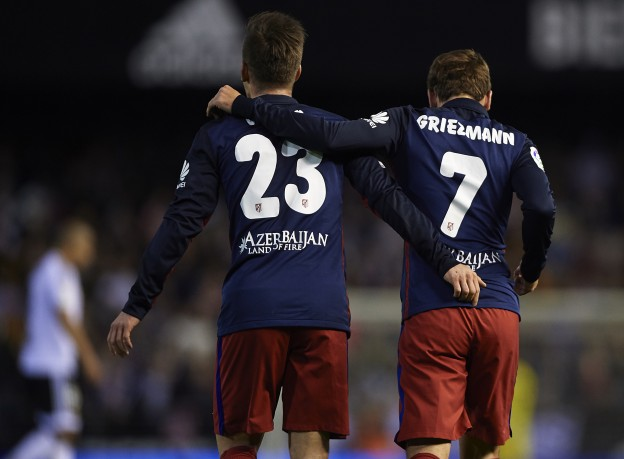 Vietto and Griezmann have featured together this season