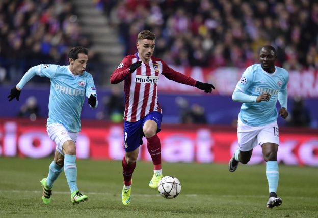 Griezmann in action against PSV last month