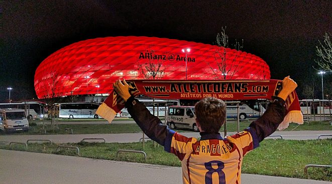 Nick Lawley soaks in the Allianz Arena following the match