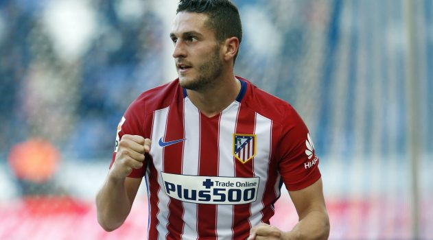 Koke celebrates his goal against Espanyol
