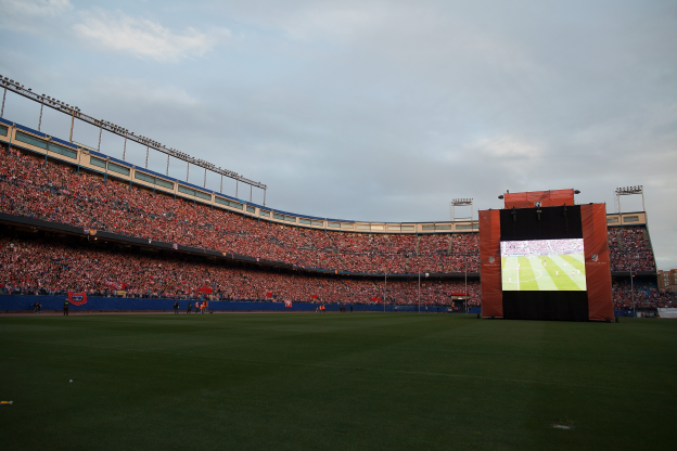 Atleti fans filled the Calderón for the 2014 final