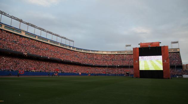 Atleti fans filled the Calderón for the 2014 final