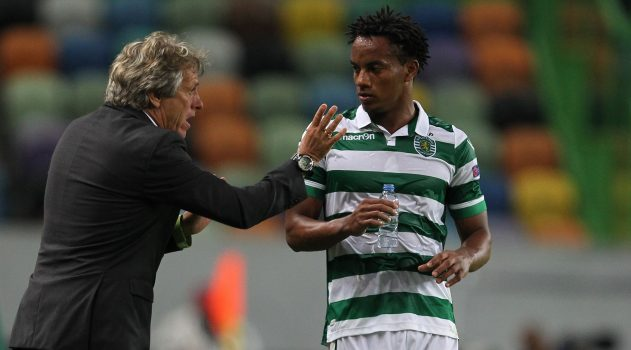 Andre Carrillo while playing for Sporting earlier this season