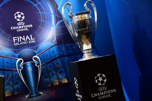 The Champions League final trophy