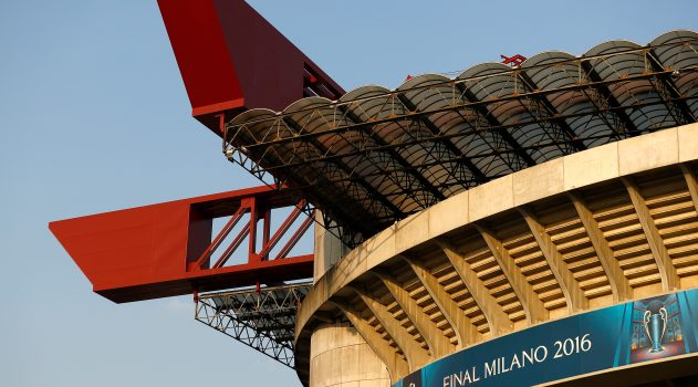 The San Siro is ready for the Champions League final!