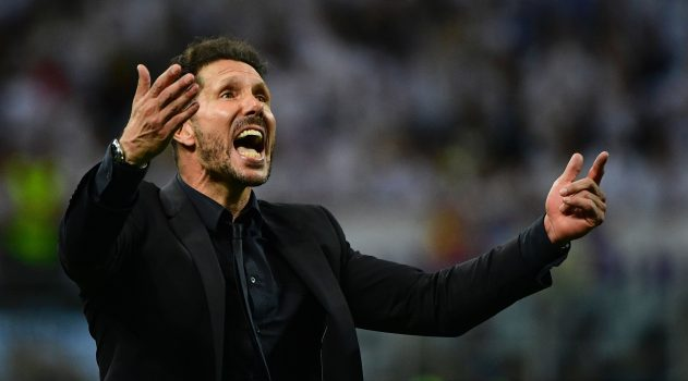 Atlético's Diego Simeone expresses his feelings after the final defeat