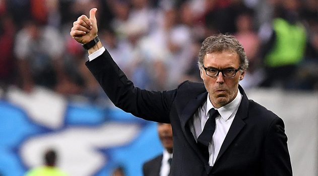 PSG's manager Laurent Blanc