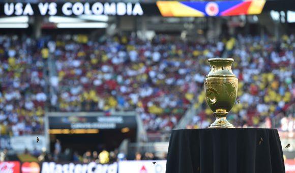 The 2016 Copa America trophy