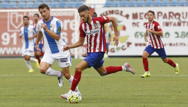 Carrasco on the ball in friendly at Leganés last year