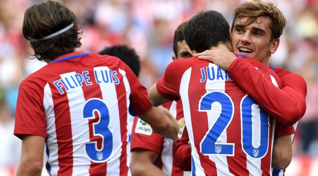 Griezmann is the joint top scorer in La Liga with five goals