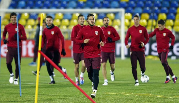 Rojiblancos train in feezing conditions in Rostov