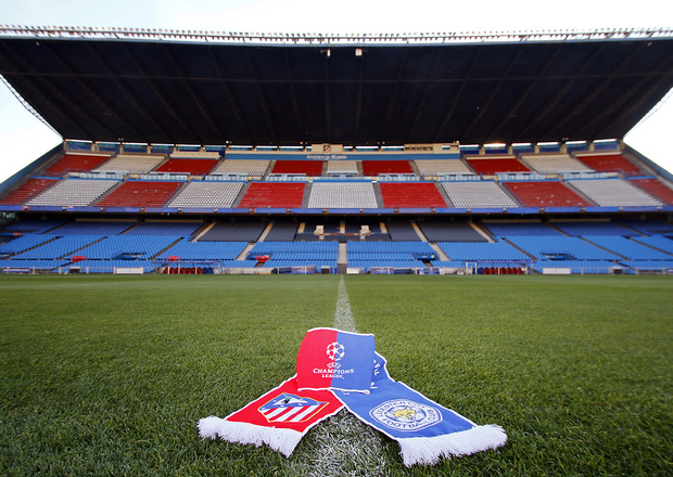 Atlético receives Leicester City FC ahead of the first leg of the Champions' Quarter Finals.