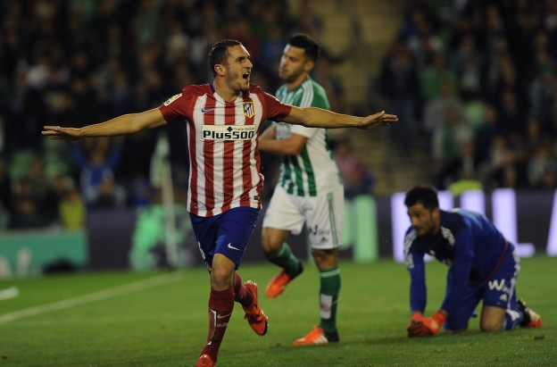 Koke celebrates his goal against Real Betis