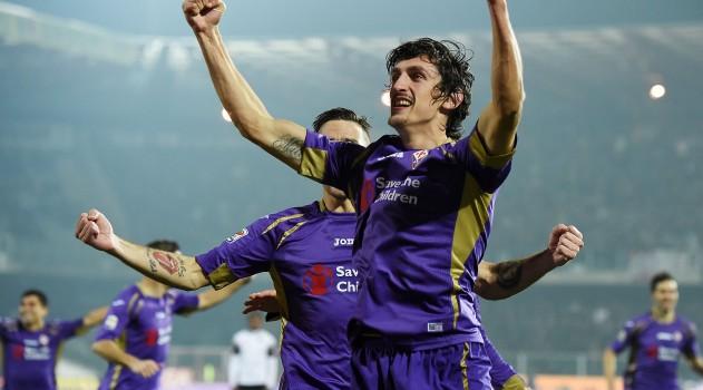 Savic celebrates scoring against Cesena