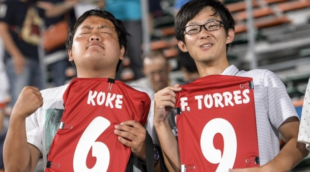 2,000 fans turned up to watch training session in Saga