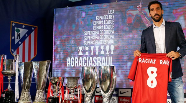 Raúl García says goodbye to Atlético (pic: clubatleticodemadrid.com)