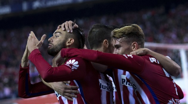 Carrasco celebrates for Atleti