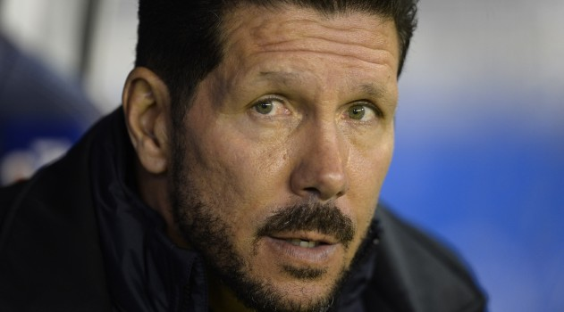 Diego Simeone looks on from the bench