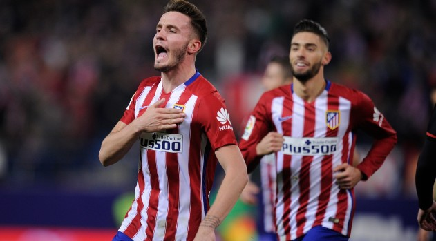 Saúl celebrated scoring one of many goals so far this season