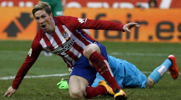 Torres celebrates his landmark goal