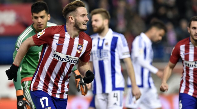 Saúl impressed against the Basque side