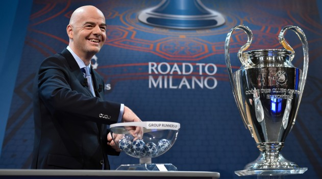 UEFA prepare to make the draw for Champions League