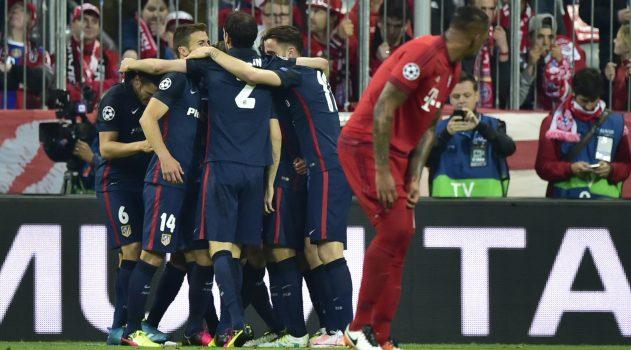 Atleti celebrate their goal