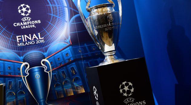 The Champions League final trophy