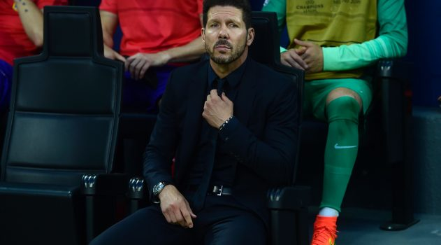 Diego Simeone looks on during the final in Milan