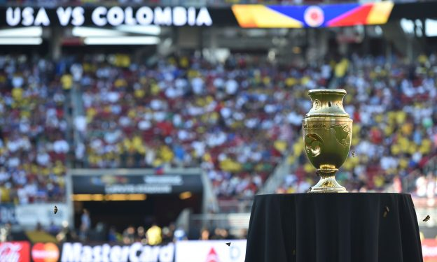 The 2016 Copa America trophy