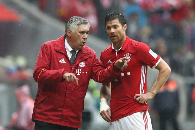Ancelotti took over from Guardiola during the summer
