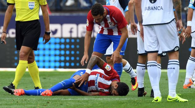 Augusto was forced off in Sunday's win over Deporivo