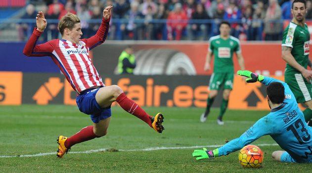 Torres scored his 100th Atleti goal against Eibar last year